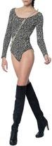 Mara Hoffman Leopard Bodysuit