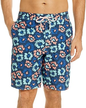 johnnie-O Vessup Floral Print Swim Trunks
