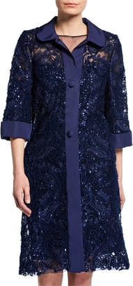 Naeem Khan Lace Midi Coat