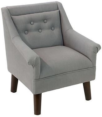 One Kings Lane Bella Kids' Accent Chair - Gray - Espresso/Gray