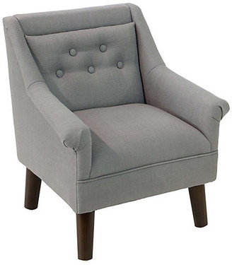 One Kings Lane Bella Kids' Accent Chair - Gray - frame, espresso; upholstery, gray