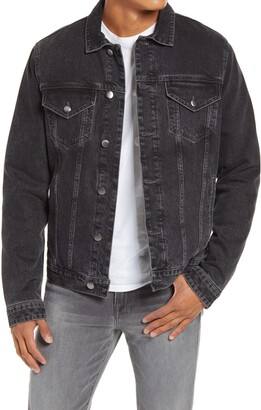 Frame Quilted Lined Trucker Jacket
