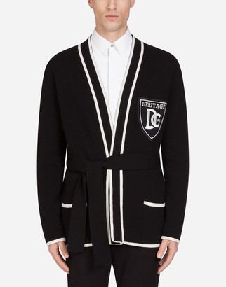 Dolce & Gabbana Cashmere Cardigan With Patch