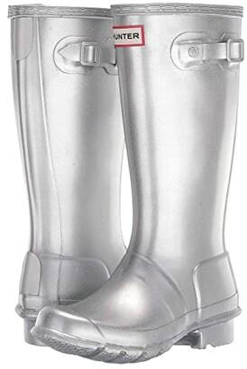 Hunter Original Cosmic (Little Kid/Big Kid) (Silver) Girls Shoes