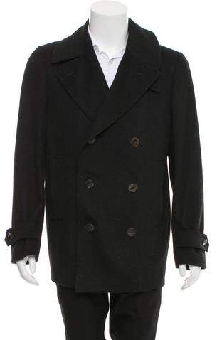 Gucci Double-Breasted Wool Peacoat