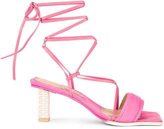 Jacquemus Les Sandales Adour in Pink   FWRD