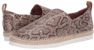 Gentle Souls by Kenneth Cole Lizzy A-Line Sporty (Antique Gold Embossed Leather) Women's Shoes