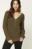 Forever 21 FOREVER 21+ Ribbed V-Neck Tunic