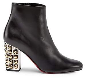 Christian Louboutin Women's Vasa Embellished Leather Ankle Boots