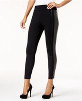 Thalia Sodi Faux-Leather-Trim Skinny Pants, Created for Macy's