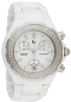 Michele Tahitian Diamond Ceramic Watch