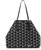 Jimmy Choo SASHA/M Black Leather Tote Bag with Stars