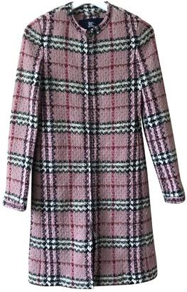 Burberry Pink Wool Coat for Women