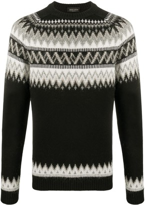 Roberto Collina Fairisle knit jumper
