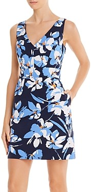 Milly Hibiscus Print Mini Sheath Dress