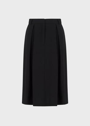 Giorgio Armani Grain De Poudre Skirt With Inverted Pleat