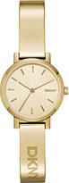 DKNY NY2307 Soho yellow gold-plated bracelet watch