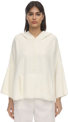 Agnona Hooded Cashmere & Cotton Sweater