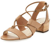Jimmy Choo Margo Leather Crisscross 40mm Sandal