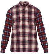 Lanvin Checked single-cuff cotton shirt