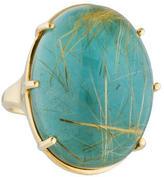 Ippolita 18K Rutilated Quartz & Turquoise Cocktail Ring