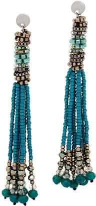 The Marrakesh - Multi-Strand Seed Bead Tassel Earrings