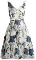 Erdem Gaby floral-print fil coupé dress