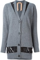 No.21 lace detail cardigan