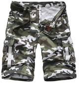 Elonglin Men Cargo Camo Casual Shorts Cotton NO BELT