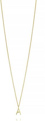 Sarah Chloe Mini Amelia Initial Pendant Necklace