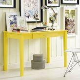 Walker Edison 48-Inch Wood Writing Computer Desk in Yellow