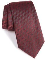 Armani Collezioni Men's Shadow Herringbone Silk Tie