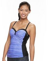 Free Country Women's Space-Dye Ruched Tankini Top