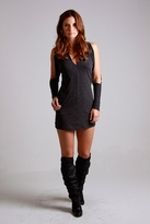 Nightcap Clothing Drop Shoulder Dress in Charcoal