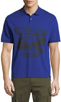 Moschino Pique Polo Shirt with Tonal Logo