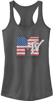 Fifth Sun Women's Tee Shirts CHARCOAL - MTV Charcoal American Flag Racerback Tank - Women & Juniors