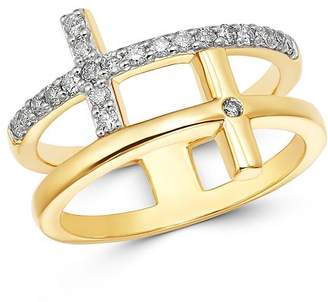 Bloomingdale's Diamond Double Cross Ring in 14K Yellow Gold, 0.30 ct. t.w. - 100% Exclusive