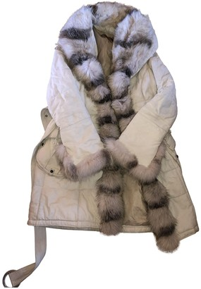 Non Signé / Unsigned Non Signe / Unsigned White Fox Coat for Women Vintage