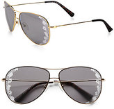 Valentino Lace Aviator Sunglasses