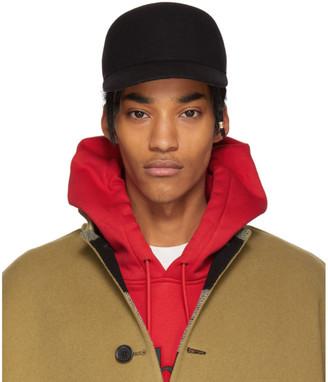 Burberry Black Wool Baseball Cap