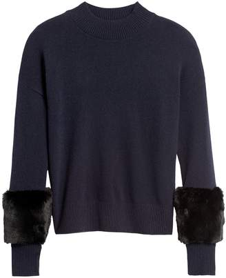 Banana Republic JAPAN EXCLUSIVE Faux Fur Sleeve Sweater