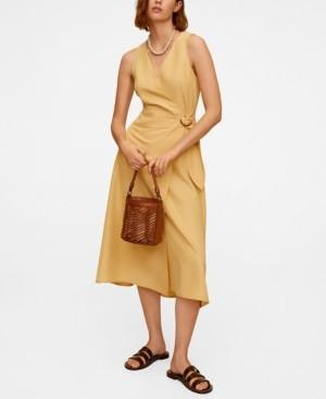 MANGO Women's Modal Wrap Dress