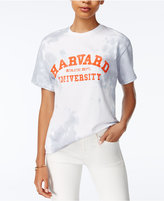 Hybrid Juniors' Cotton Tie-Dyed Harvard T-Shirt