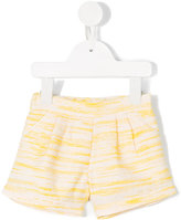 Chloé Kids - pleat detail shorts - kids - Cotton/Polyamide/Polyester/Metallic Fibre - 12 mth