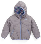 The North Face Toddler Girl's 'Perrito' Reversible Water Repellent Hooded Jacket