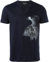 Emporio Armani eagle print T-shirt - men - Cotton - M