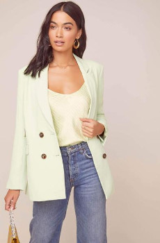 ASTR the Label The Zodiac Blazer In Mint - XS