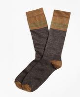 Brooks Brothers Varsity Stripe Wool Crew Socks