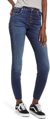 STS Blue Ellie Button Fly High Waist Crop Skinny Jeans