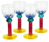 Kosta Boda Set of 4 Glass Palm Cordial Glasses